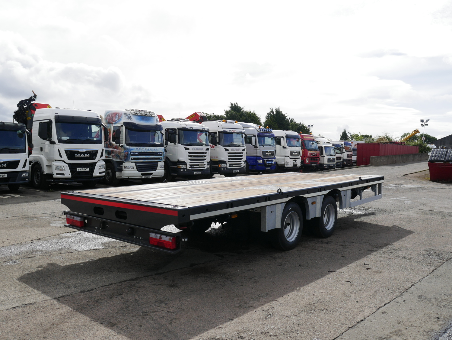 2 Axle Truck : Nugent axle draw bar trailer truck for sale