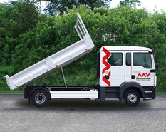 Index mvb063 man tgl 12250 crew cab tipper truck side view